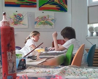 Malkurs, Malschule, Kinder, Erwachsene, Köln, Lindenthal, Karola Fels