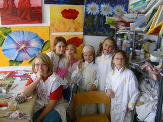 Karola Fels, Künstlerin, Lehrerin, Kinder, Malkurs, Köln, Lindenthal