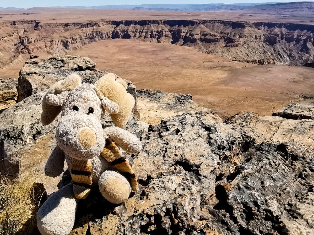 Elli am Fish River Canyon (Namibia)