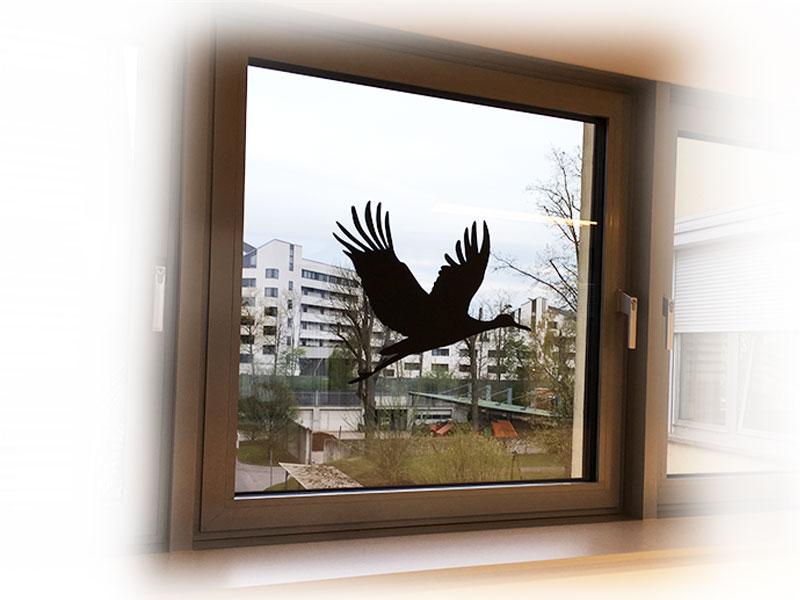 Schutzbeklebung Vogelabwehr