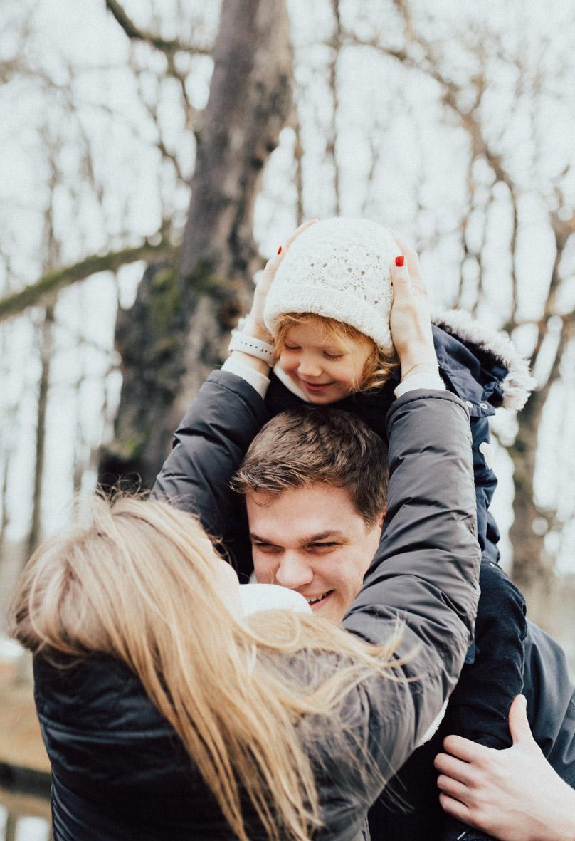Familienshooting im winterlichen Nordkirchen