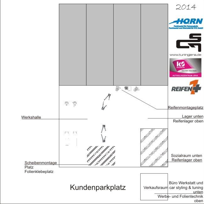 2014 Umbau der Reifenmontageplätze, Abriss des Verkaufsraumes von CST, Aufbau eines Doppelstöckigen Container