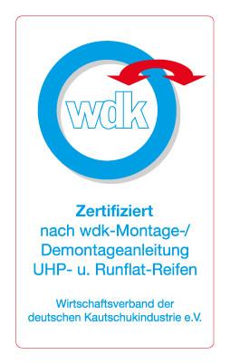 zertifizierter Betrieb zur Montage / Demonatge von UHP- und Runflat-Reifen