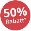"""Stempel """"50% Rabatt"""""""