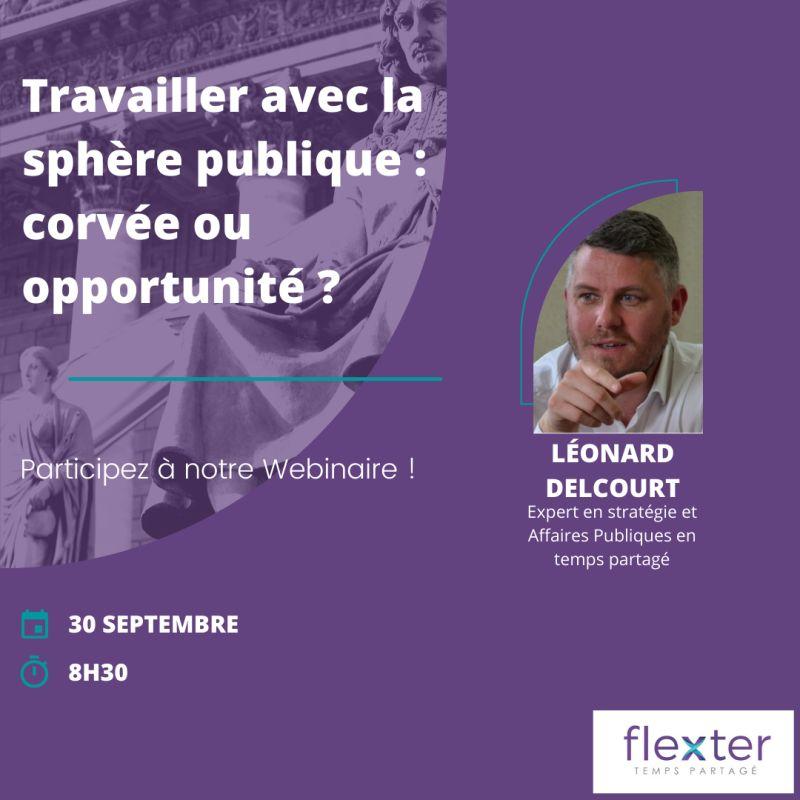 [Webinaire] La parole à nos experts ! Léonard Delcourt, directeur stratégie et Affaires Publiques en temps partagé