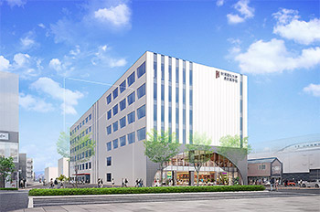 新潟薬科大学長野薬学部キャンパスの完成予想図