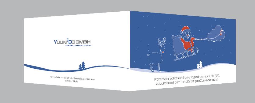 Illustration Kundenkarte Weihnachten für yuunido gmbh