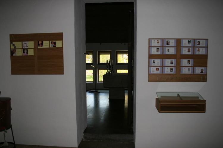 Tauf- & Sterbetafeln in Eiche massiv, Glas und Blattsilber