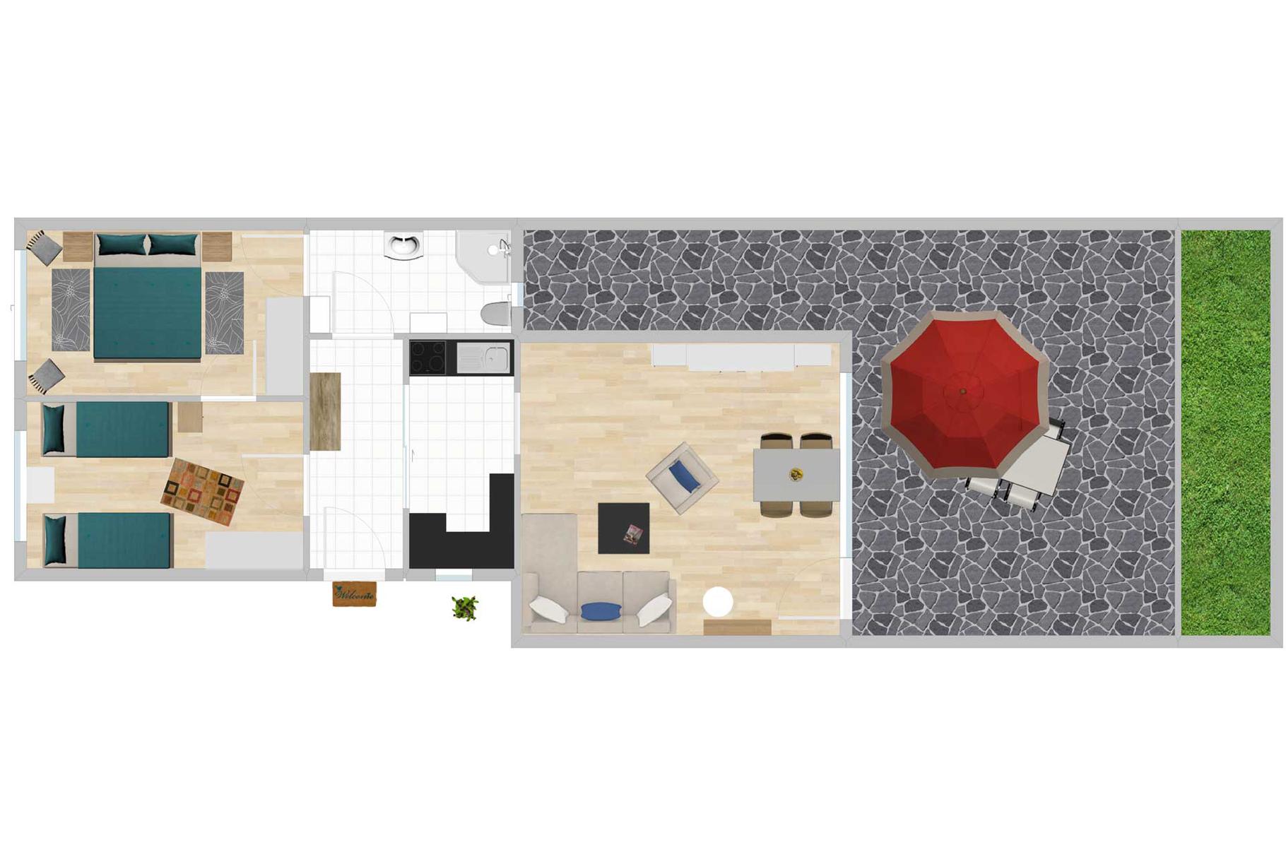 Grundriss des Ferienhauses