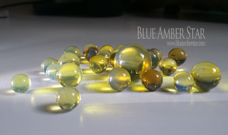 blue amber beads