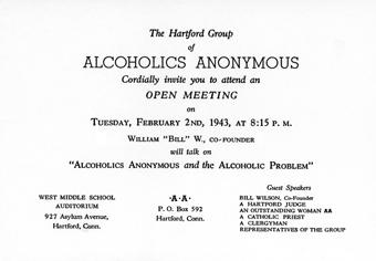 Zaproszenie na mityng otwarty z udziałem Bill W.
