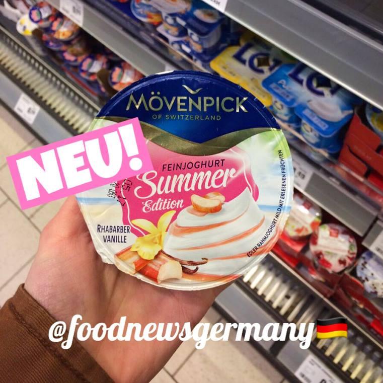 Mövenpick Joghurt Summer Edition Rhabarber Vanille