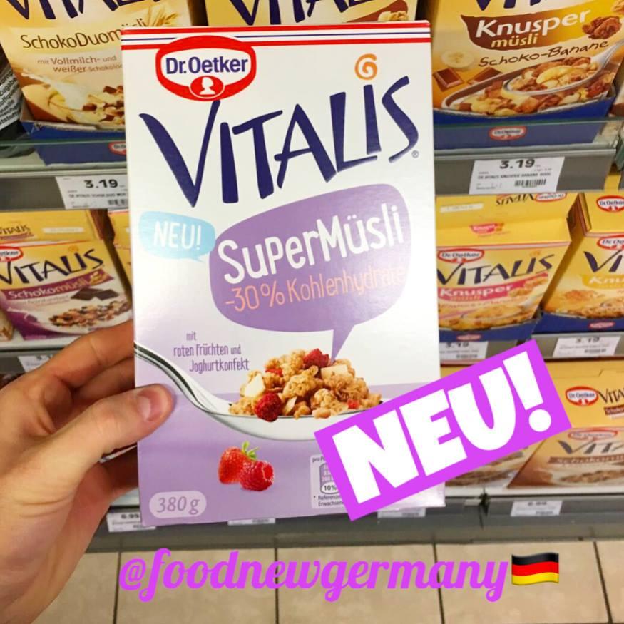 Dr.Oetker Vitalis SuperMüsli -30% Kohlenhydrate