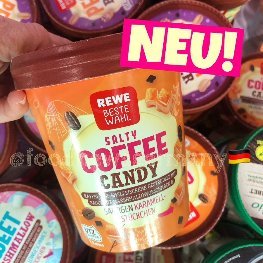 Rewe Beste Wahl Eis Salty Coffee Candy