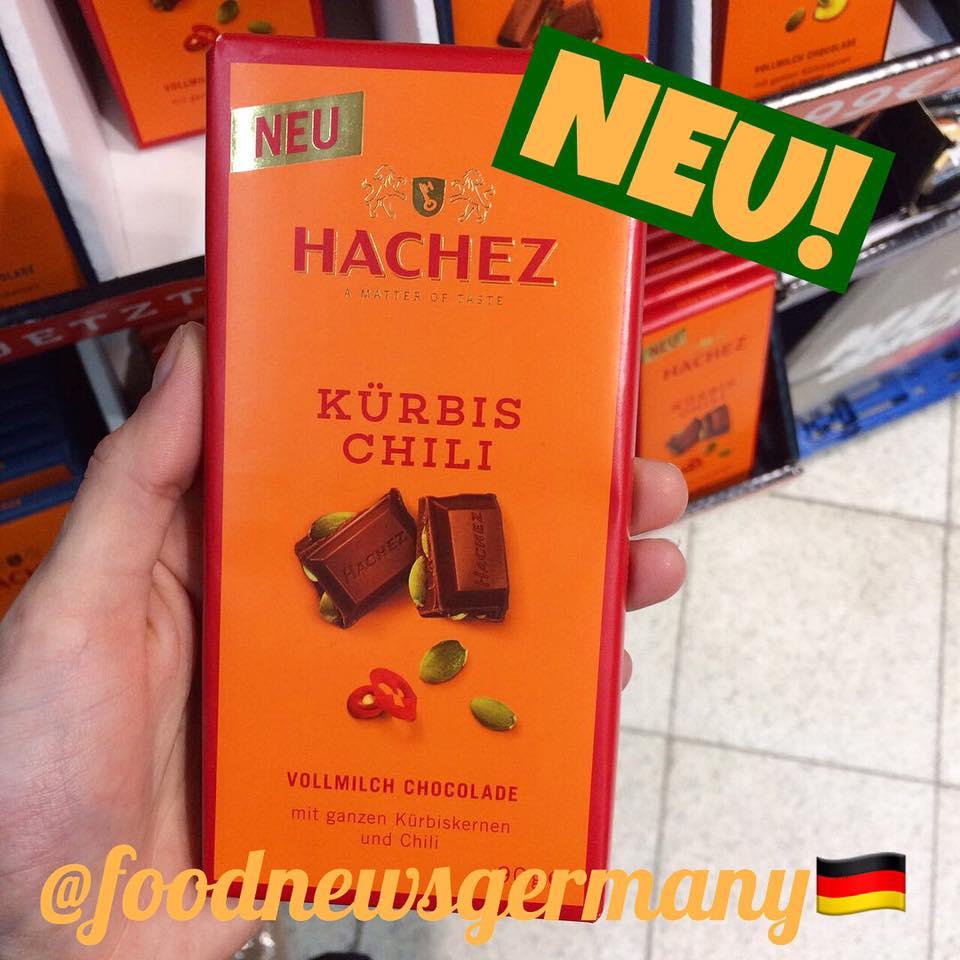 Hachez Schokolade Kürbis Chili