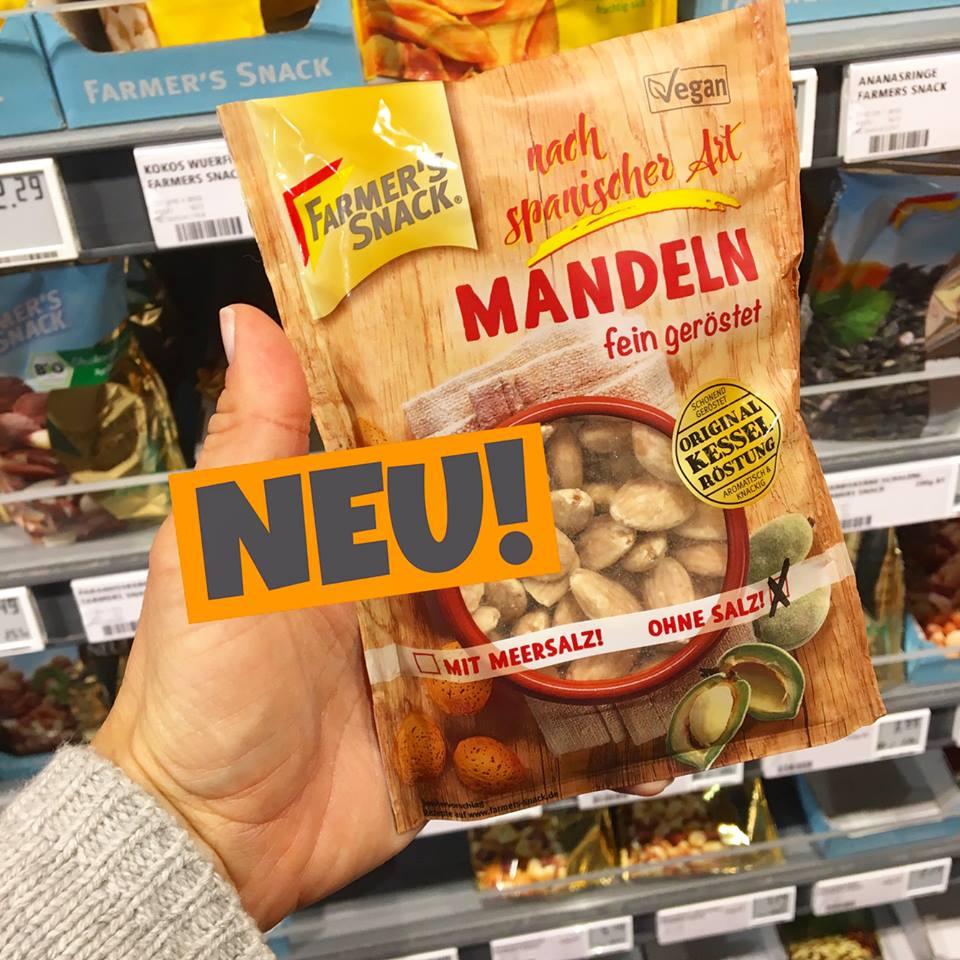 FARMER'S SNACK MANDELN ohne Salz