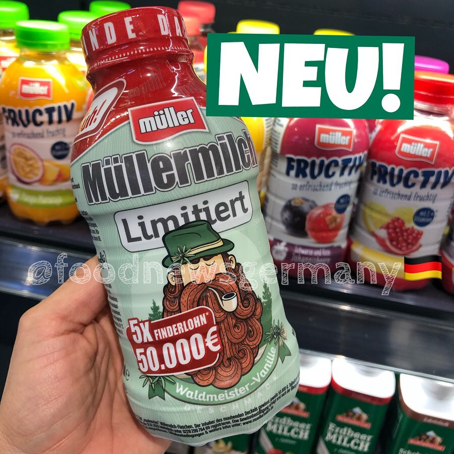 Müllermilch Waldmeister-Vanille