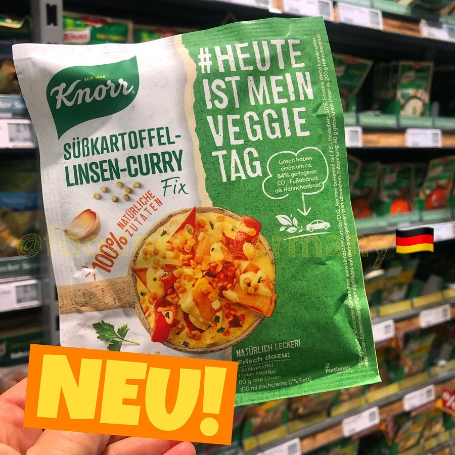 Knorr Süßkartoffel Linsen Curry