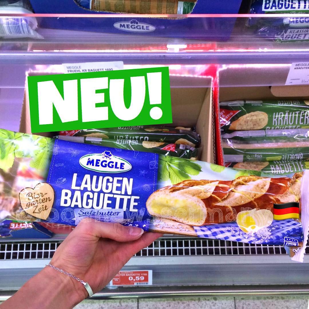 Meggle Laugen Baguette mit Salzbutter