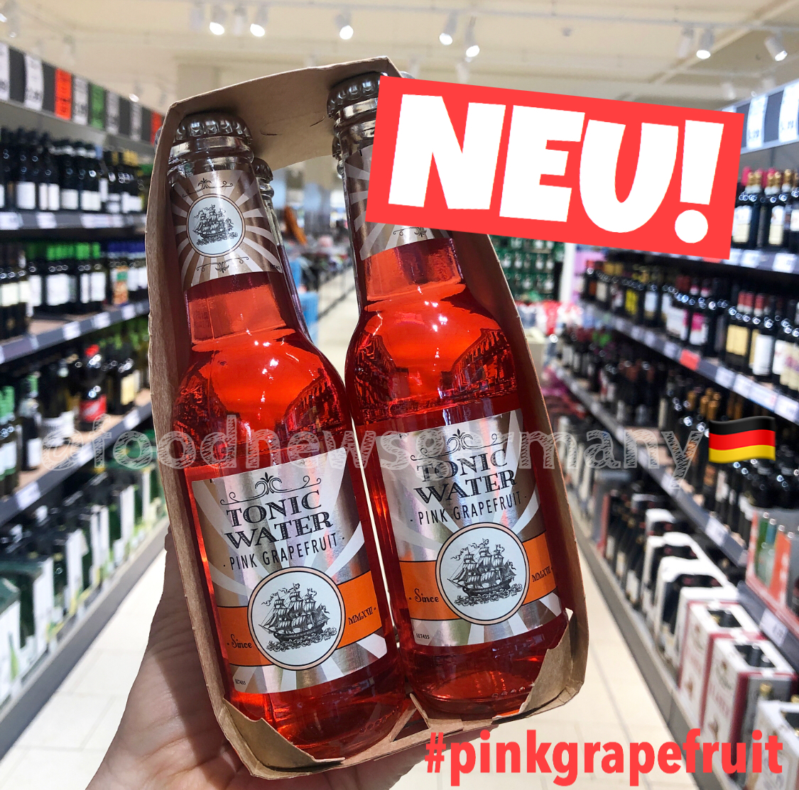Lidl Tonic Water Pink Grapefruit