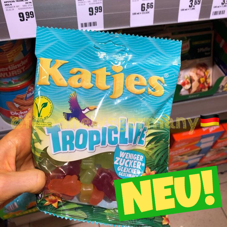 Katjes Tropiclife weniger Zucker