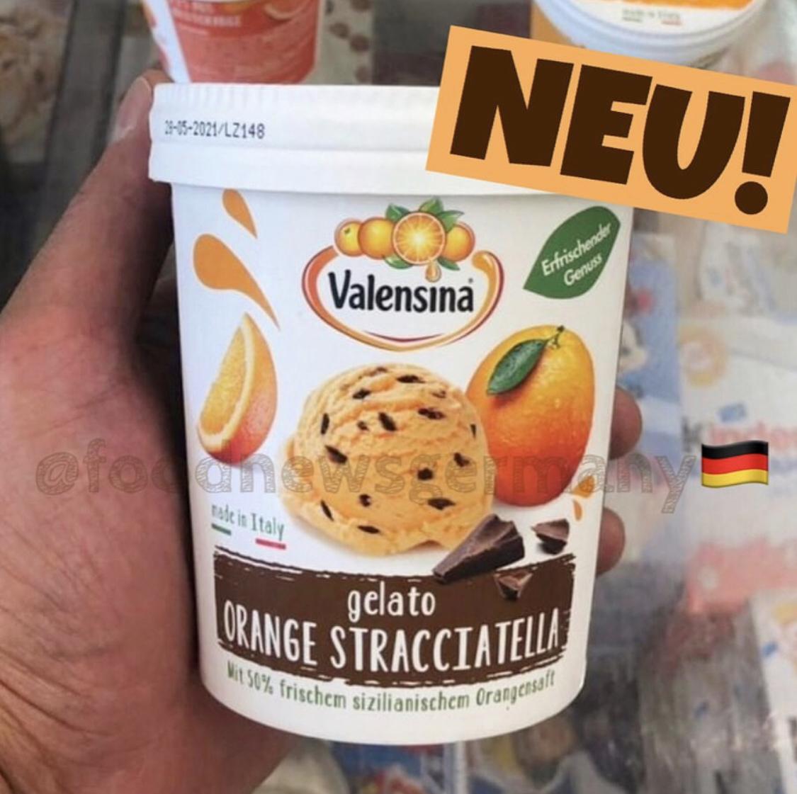 Valensina Eis Gelato Orange Stracciatella