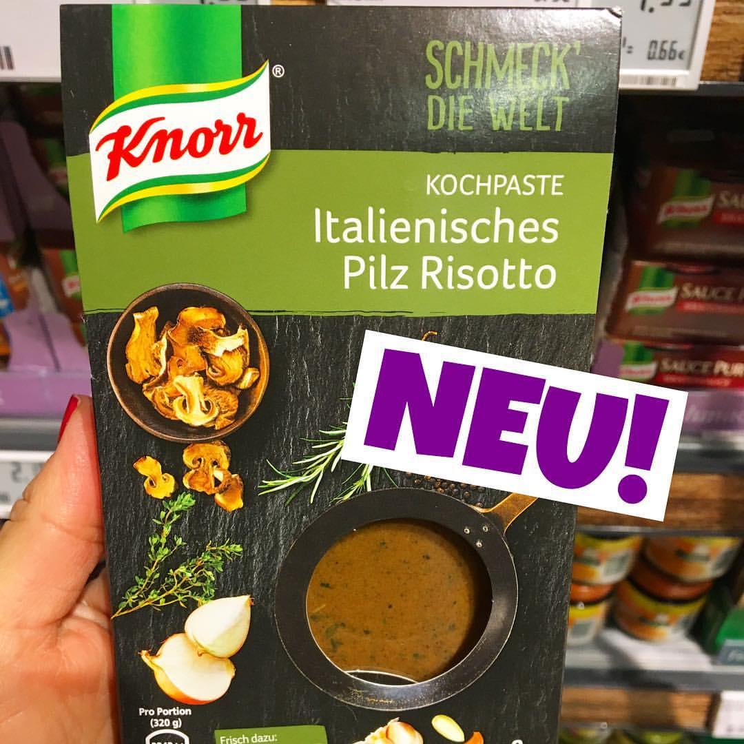Knorr schmeck die Welt Italienisches Pilz Risotto Kochpaste