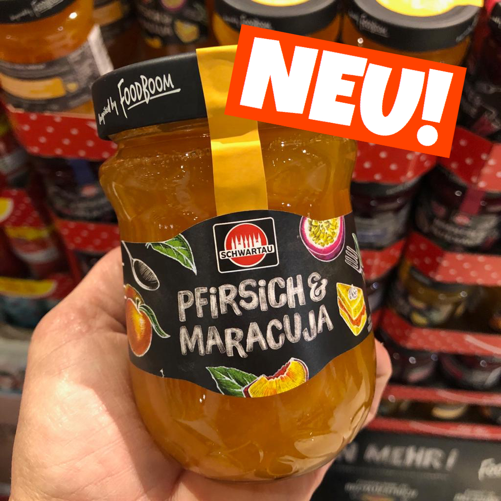 Schwartau Fruchtaufstrich Pfirsich Maracuja