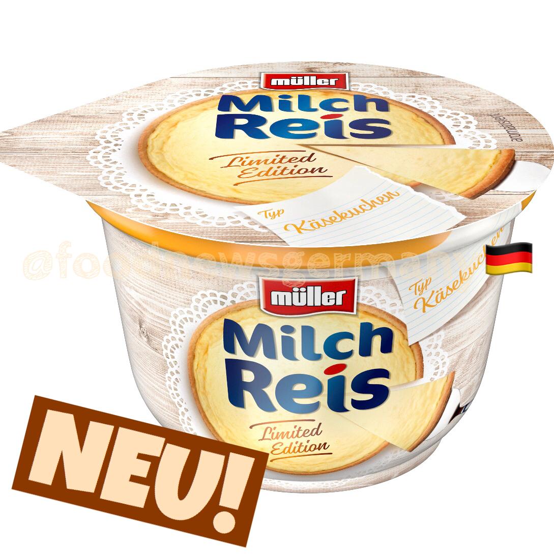 Müller Milchreis Typ Käsekuchen