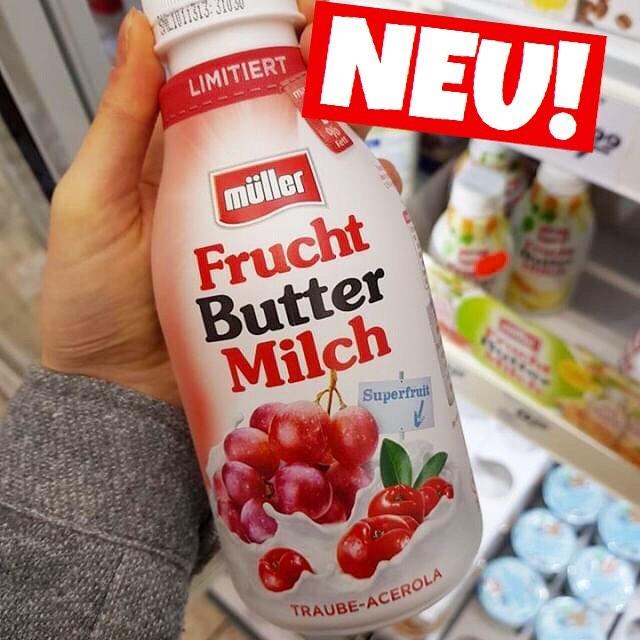 MÜLLER FRUCHT BUTTERMILCH TRAUBE ACEROLA