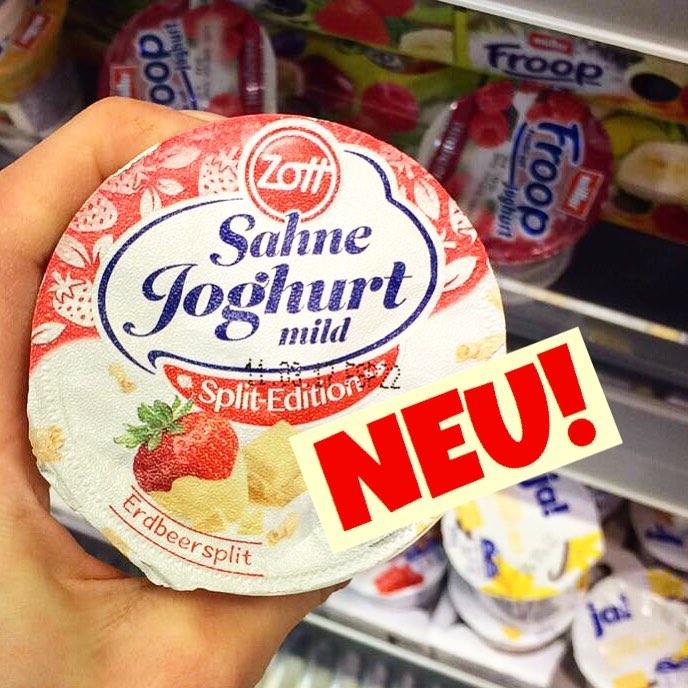 Zott Sahnejoghurt Erdbeer-Split
