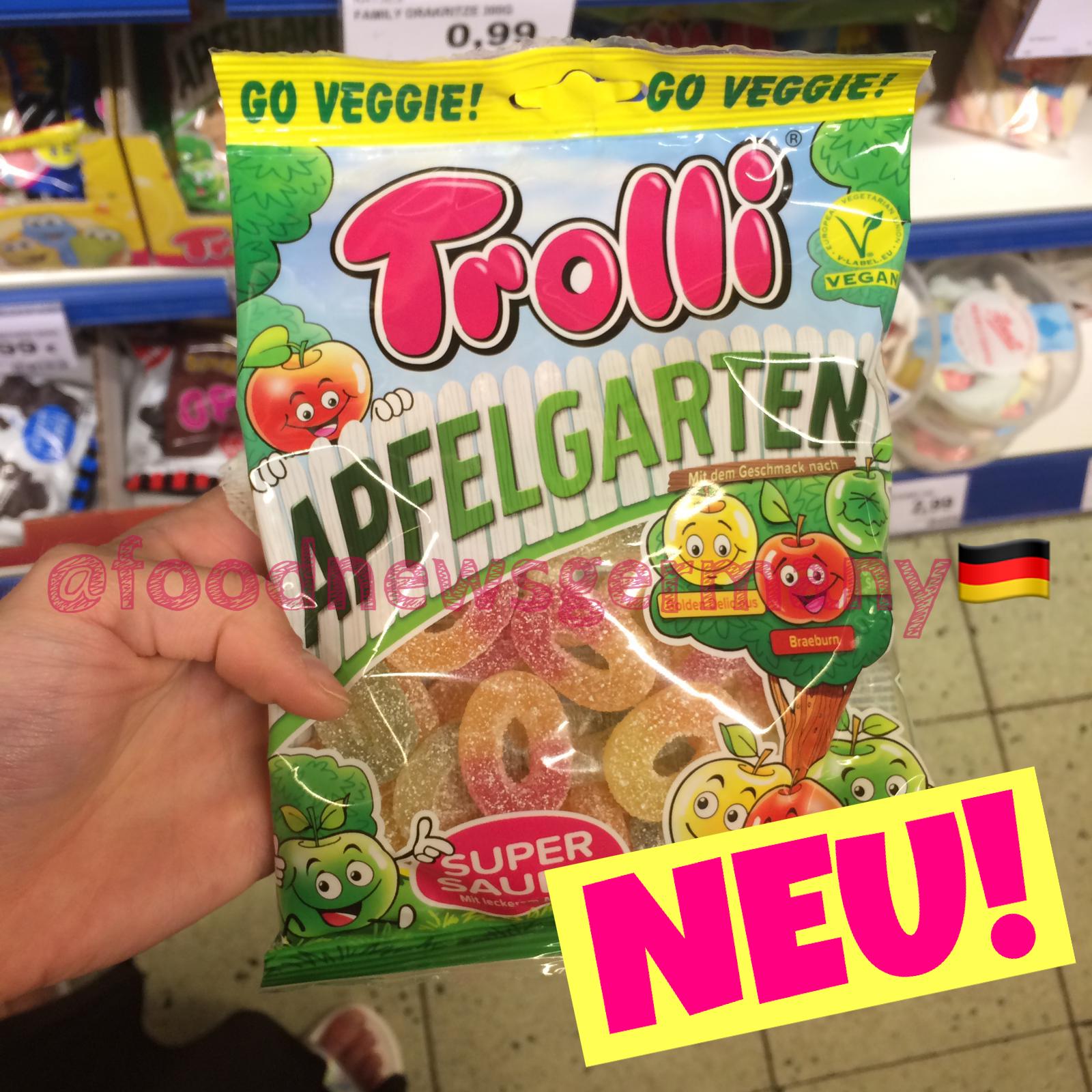 Trolli Apfelgarten vegane Apfelringe
