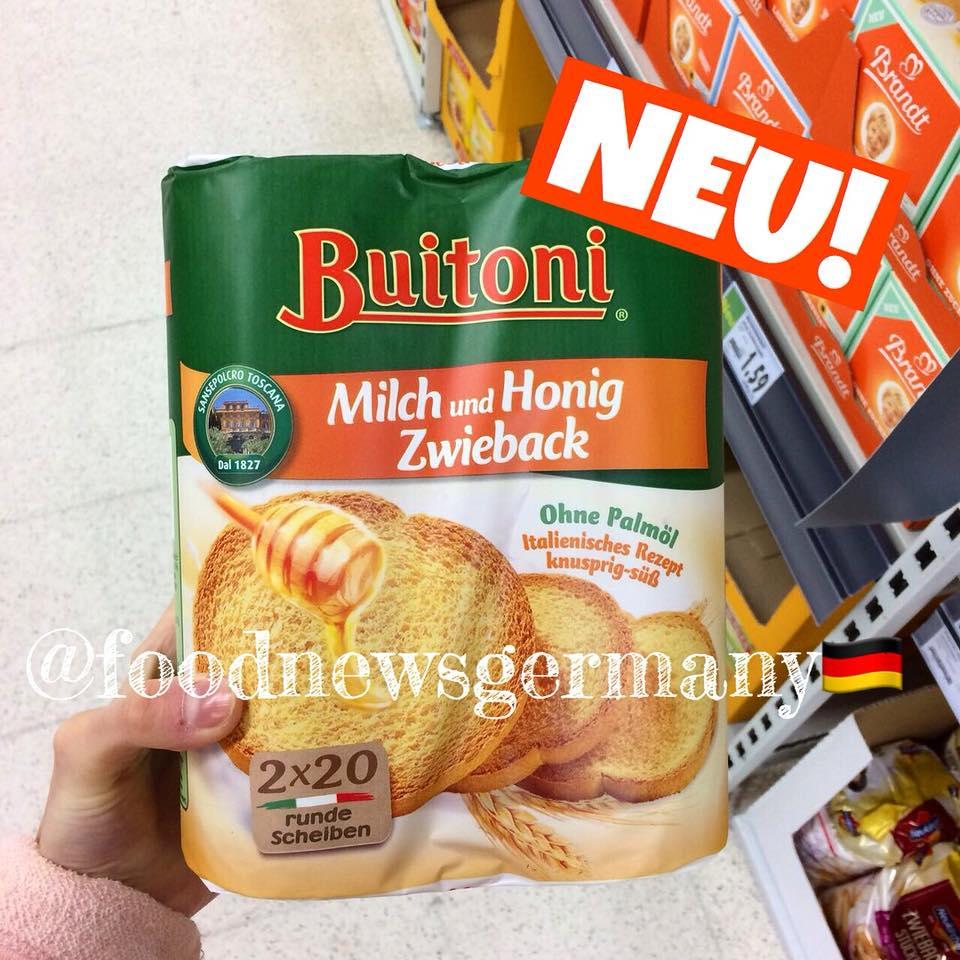 Buitoni Zwieback Milch und Honig