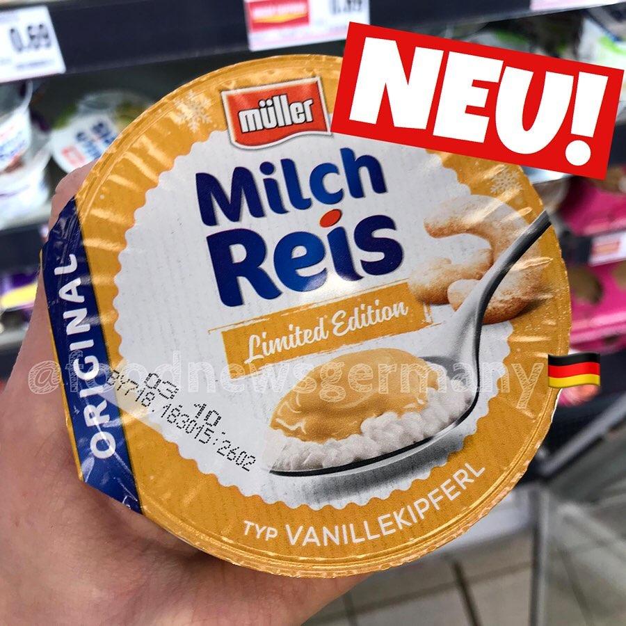 Müller Milchreis Vanillekipferl
