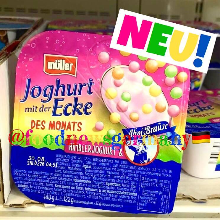 Müller Joghurt mit der Ecke Ahoj Brause