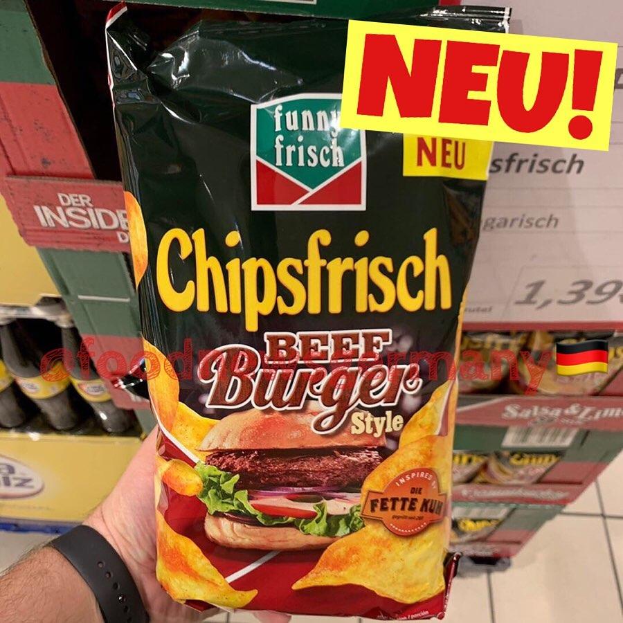 funny frisch Chipsfrisch Beef Burger