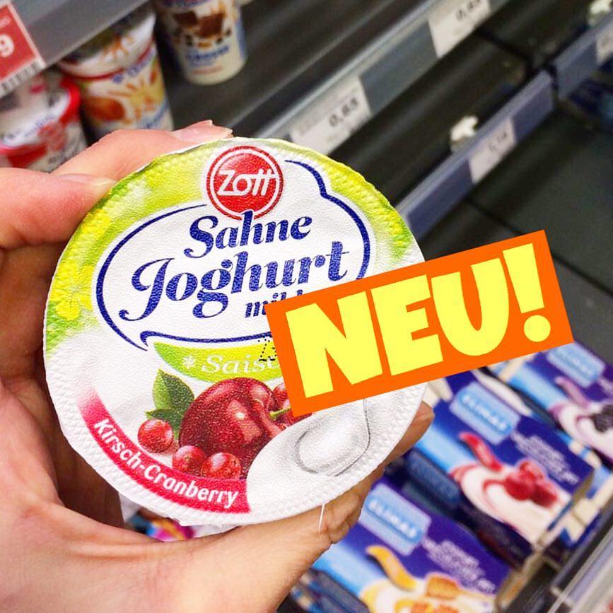 Zott Sahnejoghurt Krisch-Cranberry