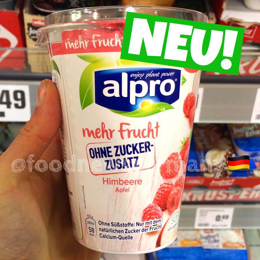 Alpro ohne Zuckerzusatz Himbeere Apfel