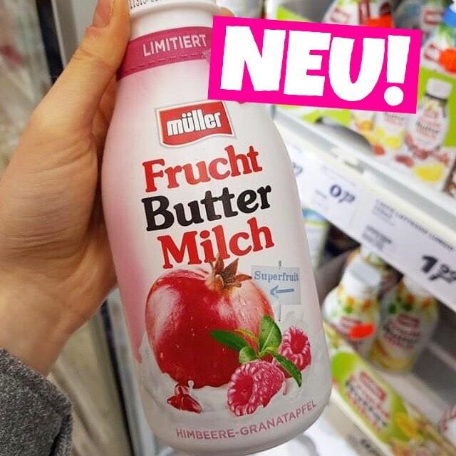 MÜLLER FRUCHT BUTTERMILCH GRANATAPFEL HIMBEERE