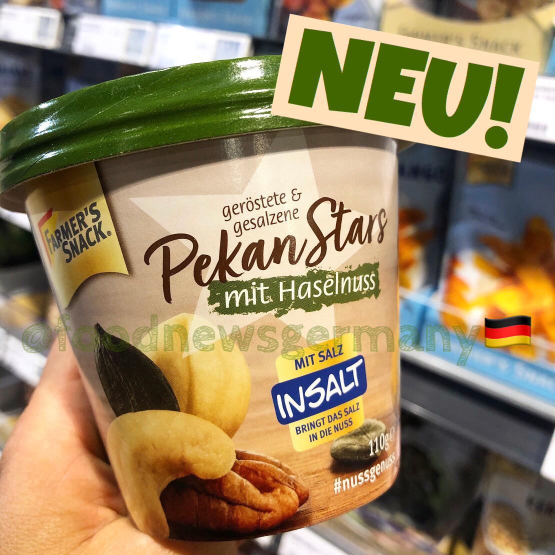 Farmer's Snack Pekan Stars mit Haselnuss