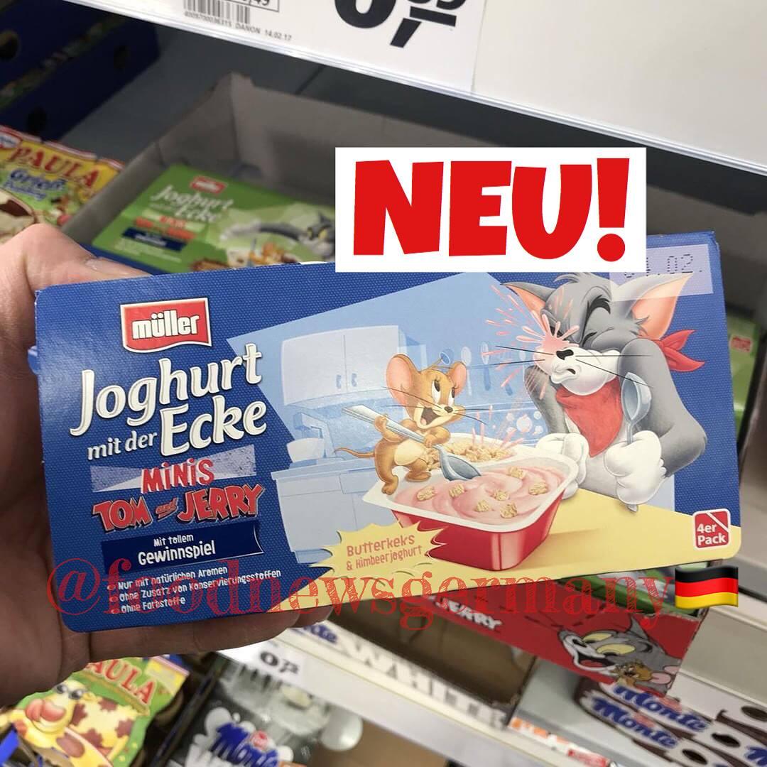 Müller Joghurt mit der Ecke Tom & Jerry