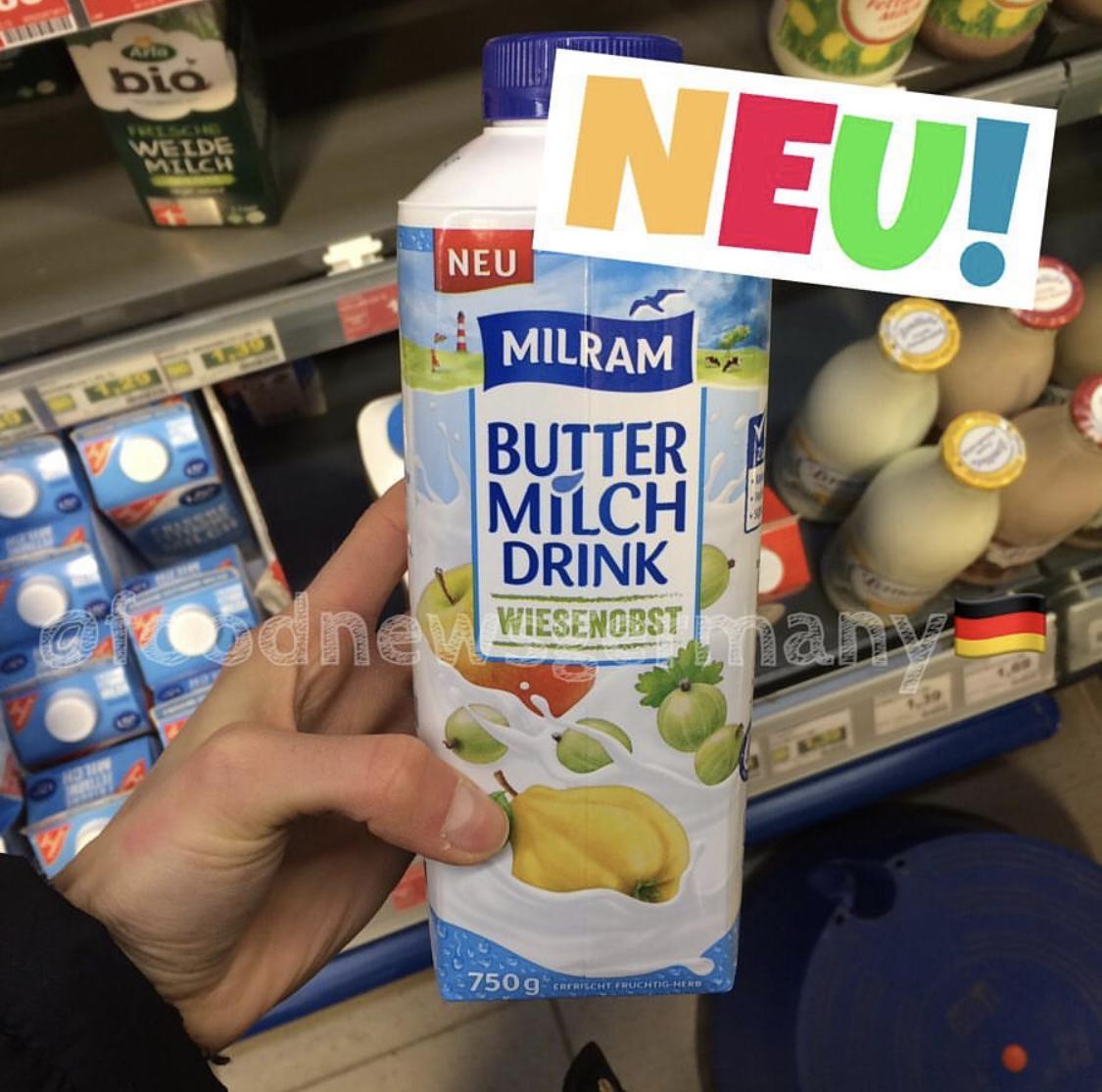 Milram Buttermilch Drink Wiesenobst