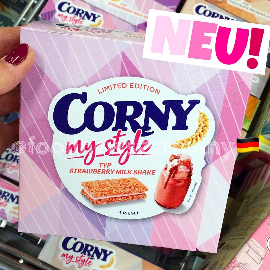 "Corny Müsliriegel ""my style"" Typ Strawberry Milk Shake"