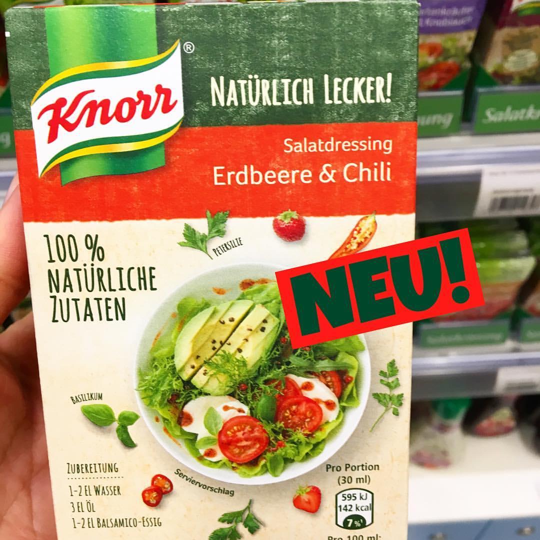 Knorr natürlich lecker Salatdressing Erdbeere Chili