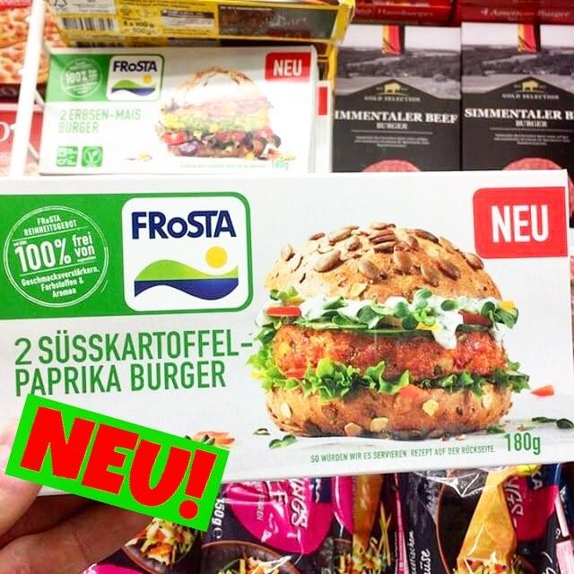 Frosta Veggie Burger Süsskartoffel-Paprika