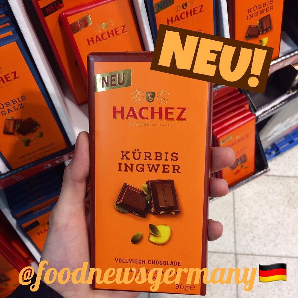 Hachez Schokolade Kürbis Ingwer