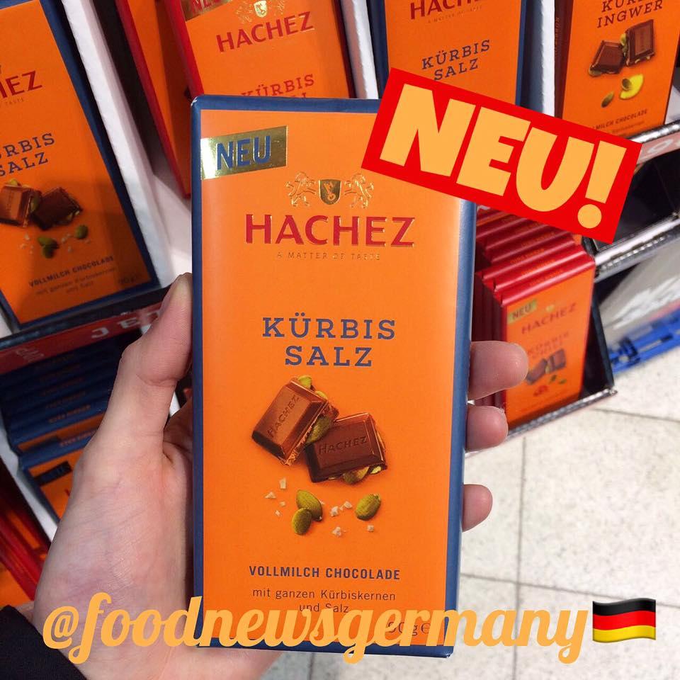 Hachez Schokolade Kürbis Salz