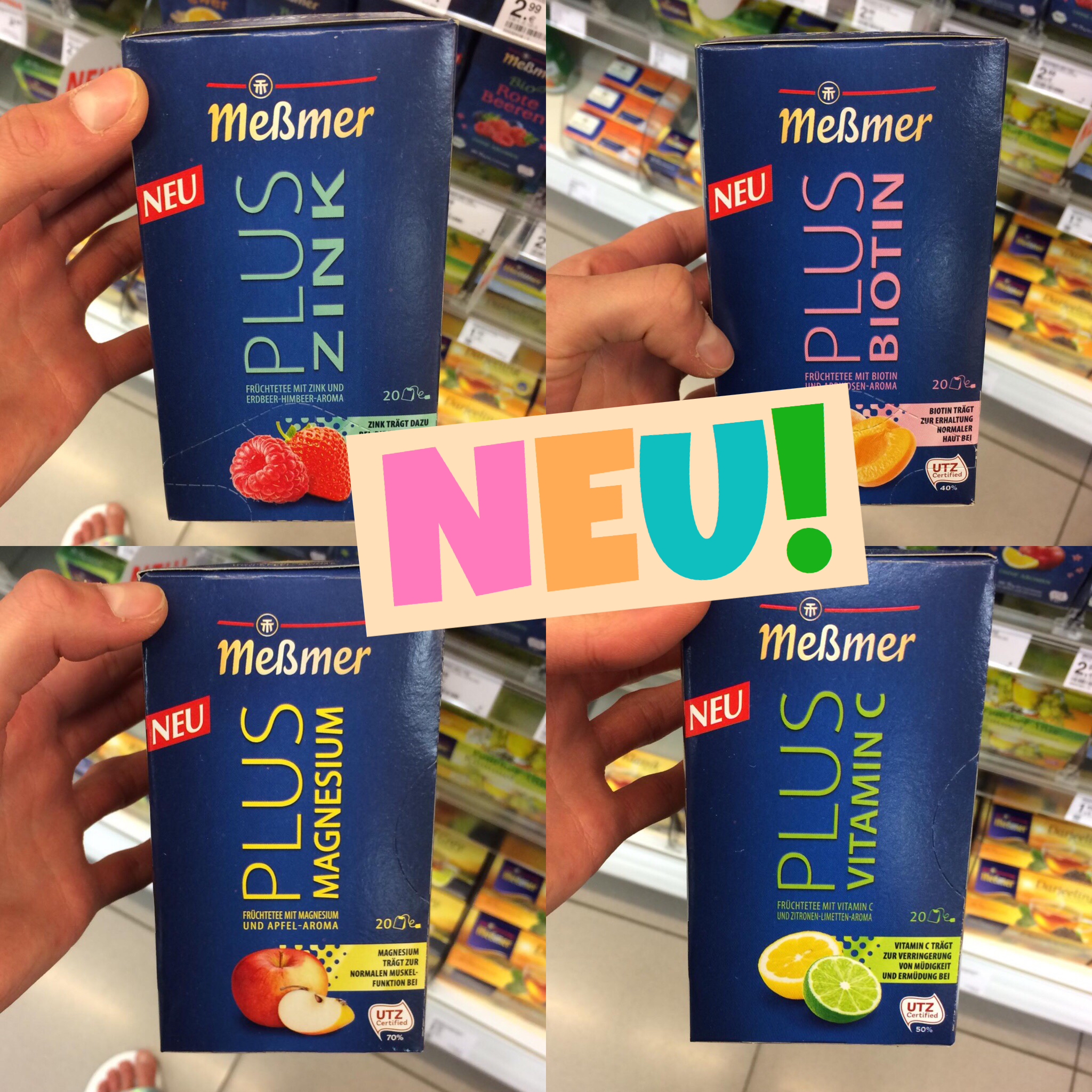 Meßmer Plus Tee mit Vitaminen & Mineralstoffen