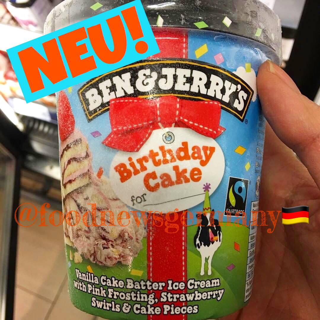 Ben & Jerrys Birthday Cake