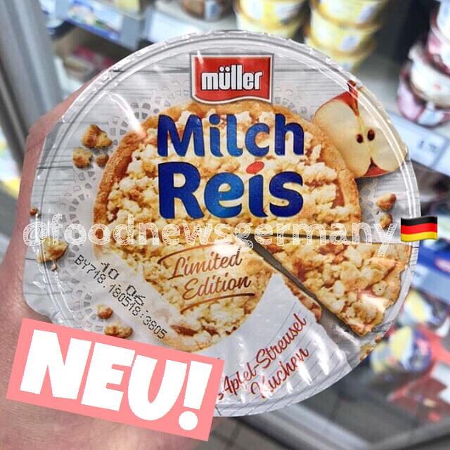 Müller Milchreis Typ Apfel Streuselkuchen